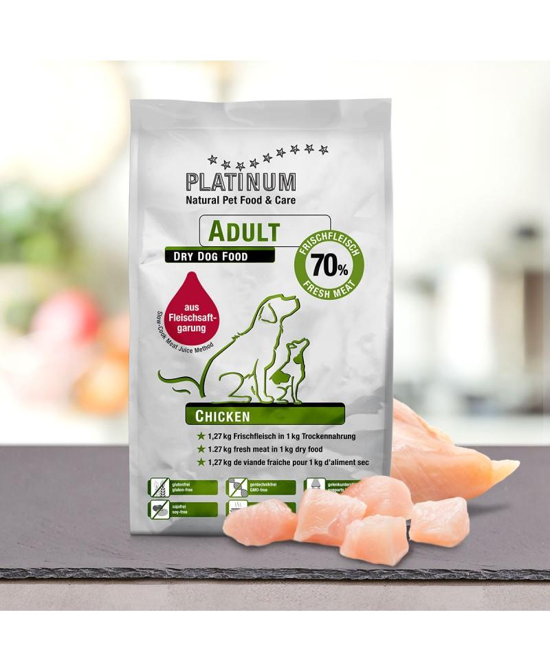 10 kg Platinum Kylling Adult Hundefoder Platinum - 12
