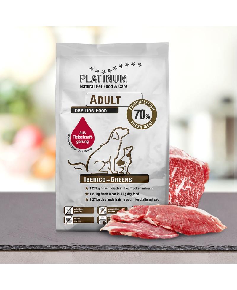 15 kg Platinum Iberico og Grønt Adult hundefoder Platinum - 15