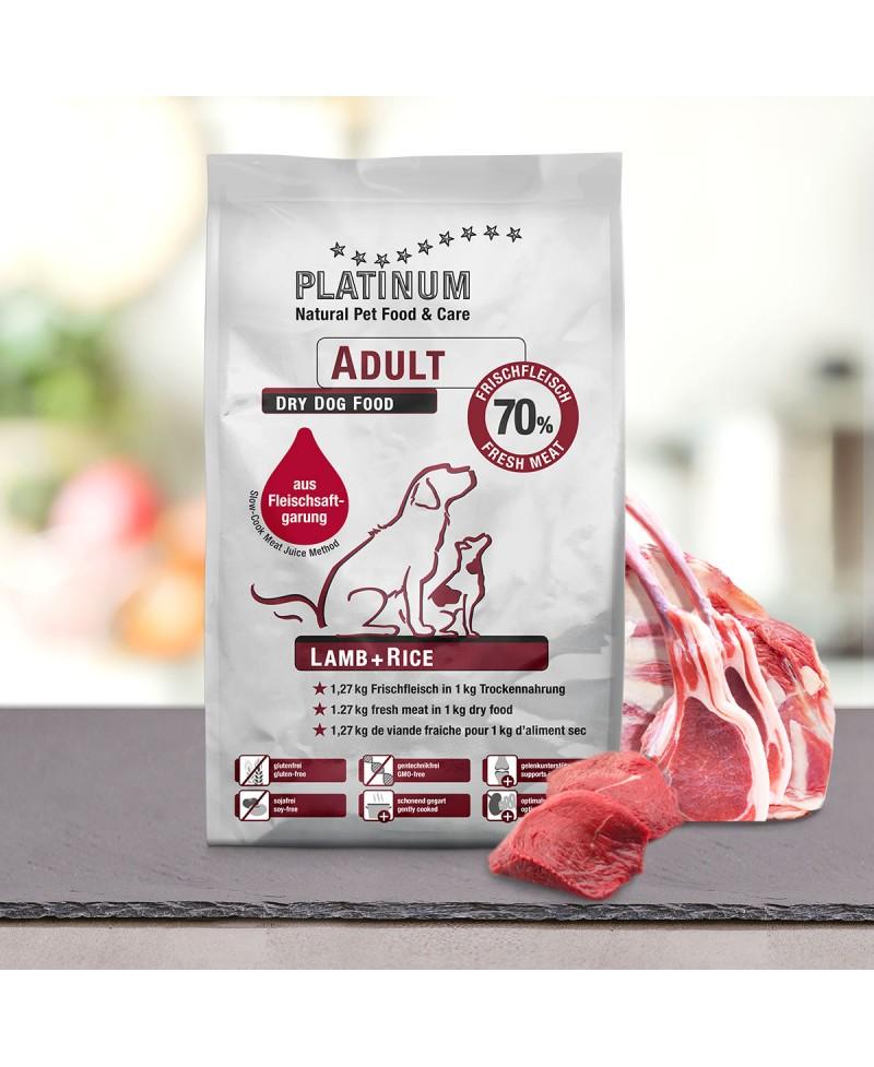 10 kg Platinum Lam og Ris Adult hundefoder Platinum - 1